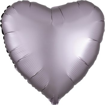 Helium Ballon Satin Luxus Greige Herz