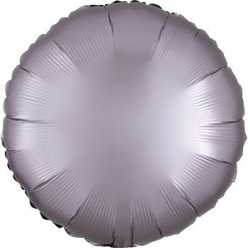 Helium-Ballon satin luxe greige rund