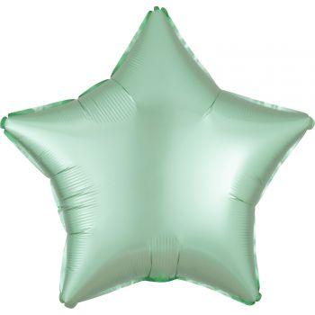Helium-Ballon Satin Luxus Pastell Grün Stern