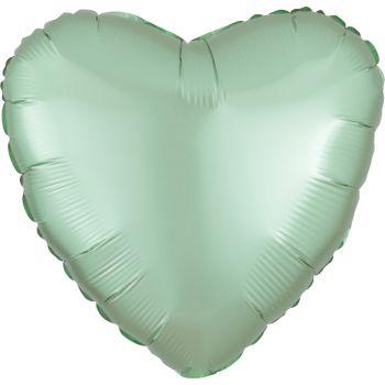 Helium-Ballon Satin Luxus Grün Pastell Herz