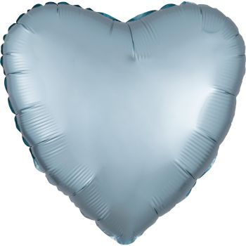 Helium Ballon Satin Luxus Blau Pastell Herz