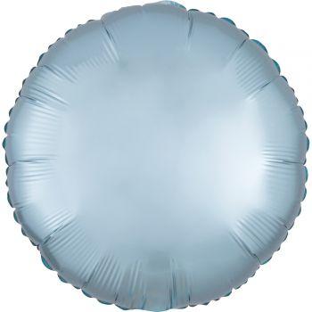 Helium Luftballon Satin Luxus Blau Pastell rund