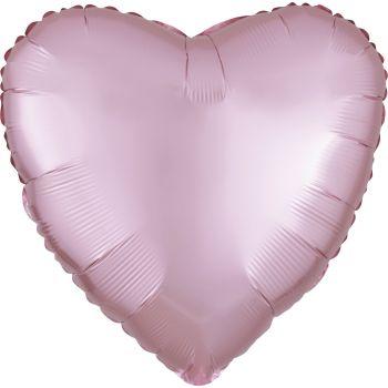 Helium Ballon Satin Luxus Rosa Pastell Herz
