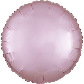 Helium-Ballon Satin Luxus Rosa Pastell rund