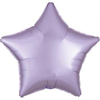 Helium Ballon Satin Luxus lila Pastell Stern