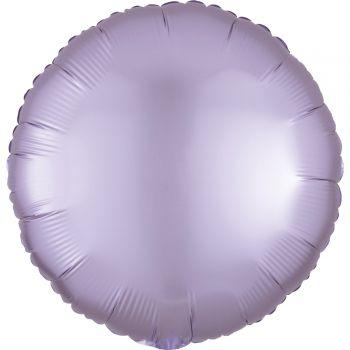 Helium-Ballon satin luxe lila rund pastellfarben