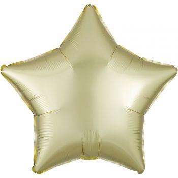 Helium-Ballon Satin Luxus Luxus pastell gelb Stern