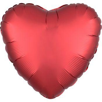 Helium Luftballon Satin Luxus Rot Herz