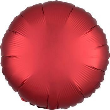 Helium-Ballon Satin luxus rot rund