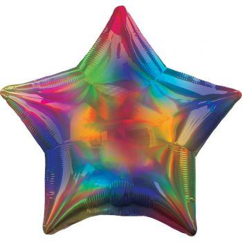 Ballon Helium Stern rainbow irisiert