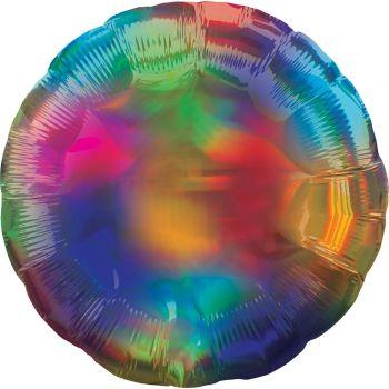 Helium-Ballon rund rainbow irisiert