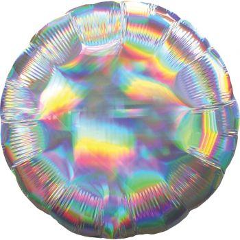 Helium-Ballon rund silbern holografik