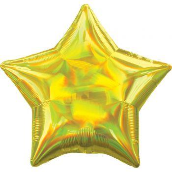 Helium-Ballon stern irisiert gelb