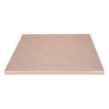 Quadratische Kuchensohle goldrosa12mm 30.5cm