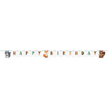Girlande Happy Birthday Waldtiere