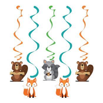 5 aufhängungen Waldtiere