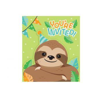 8 Einladungen träge Party