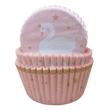 75 backförmchen Cupcakes Schwan