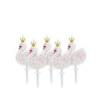 5 Kerzen Schwan-Party