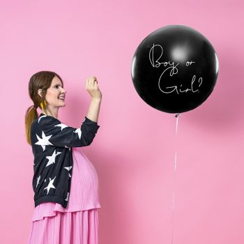Riesiger Ballon gender reveal party blau