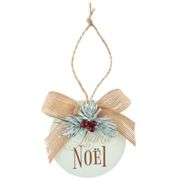 Aufhängung Goldene Weihnachtskugel aus Holz