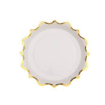 10 kleine festgefeierte Teller gold