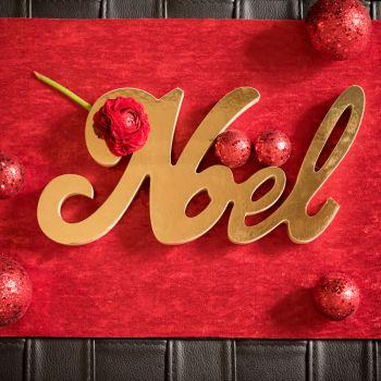 Tischdekor Weihnachten Gold