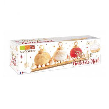 Holzscheit-Kit Weihnachtskugeln Scrapcooking
