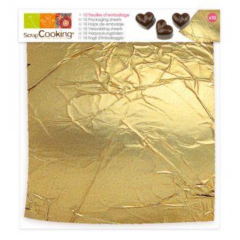 10 Blatt Schokoladenverpackung Scrapcooking