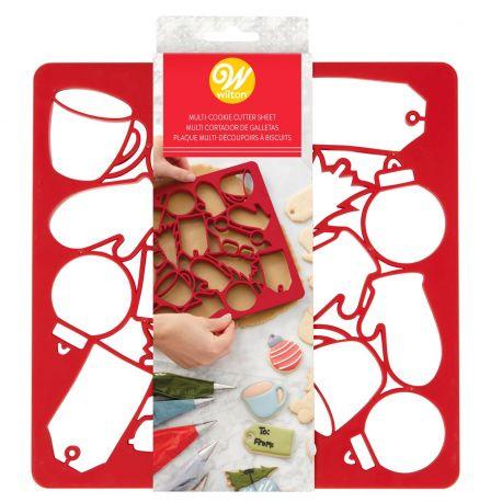 Mit diesem praktischen Helfer von Wilton können Sie mehr als 10 verschiedene Keksformen zubereiten!Ideal, um viele Weihnachtskekse...