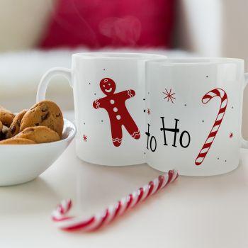 tasse Weihnachts-Süßigkeiten
