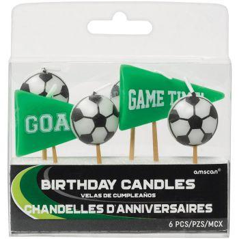 6 Kerze Kick-Goal-Spitze