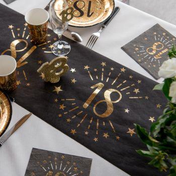 Tischweg Black Gold-Kunstwerk 18 Jahre