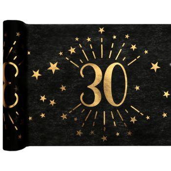 Tischweg Black Gold-Kunstwerk 30 Jahre