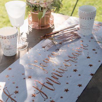 Tischpfad Rosa Gold-Geburstag