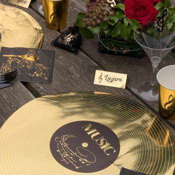 6 Tisch-Sets Goldene Musik