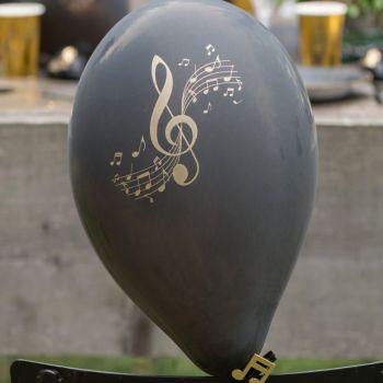 8 Ballons Latex Goldene Schallplatte Musik