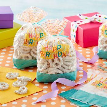 20 Beutel Süßwaren Happy Birthday Wilton