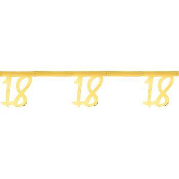 Jubiläums-Banner 18 Jahre gold