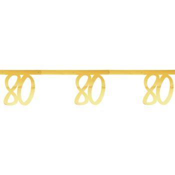 Jubiläums-Banner 80 Jahre Gold