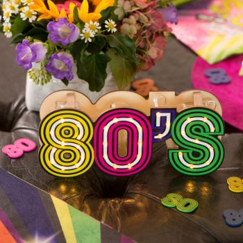 Beleuchtete herzstück tishdeko 80er Jahre