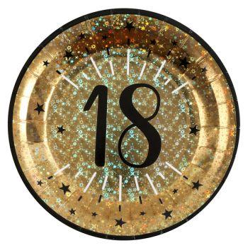 Geburtstags-Teller glitzerte 18 Jahre