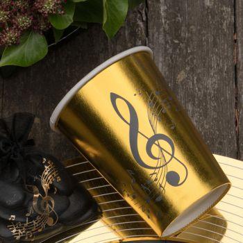 10 Becher Musik Gold