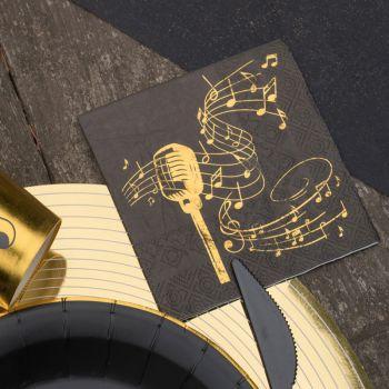 20 Servietten Goldene Musik