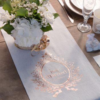 Tischweg just married metallic gold rosa