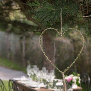 Deco aufhängen natürliches Herz