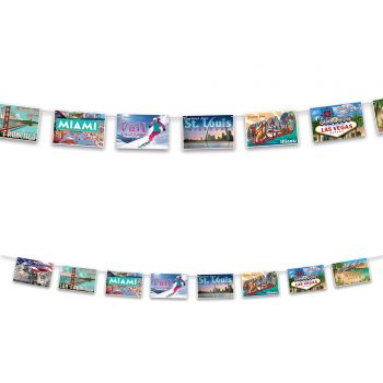 Girlanden 8 amerikanische Postkarten