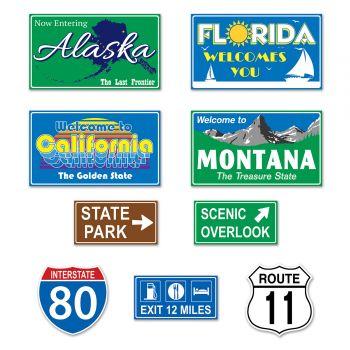9 Paneel road trip amerikanischen auf der Rückseite