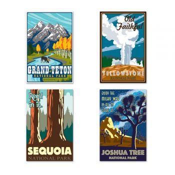 4 Poster großen Amerikanischen Westens auf der Rückseite