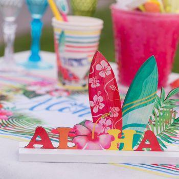 Dekoration herzstück tishdeko Aloha aus mehrfarbigen Holz